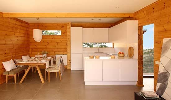 Phong cách trang trí gỗ trong phòng khách