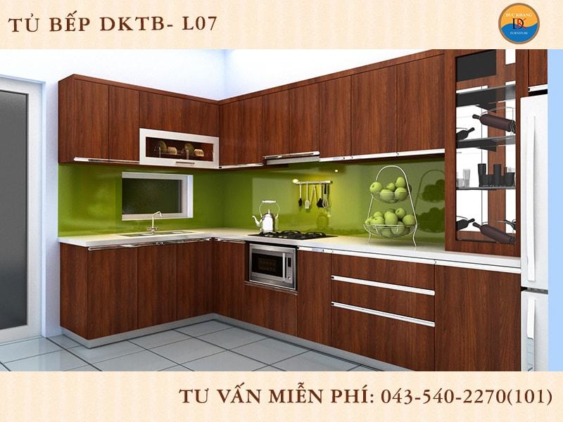 Tủ bếp chữ L Đức Khang